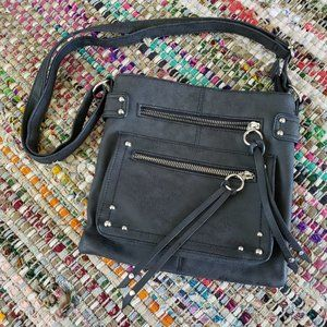 Handbags - Dk. Grey Vegan Leather Crossbody Shoulder Purse